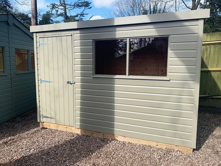 1.8 x 3.0m Pent Roof Classic Shed at Trentham