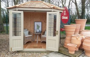 Brighton 1.8 x 2.5m Furnished Wiveton Summerhouse painted in Taupe
