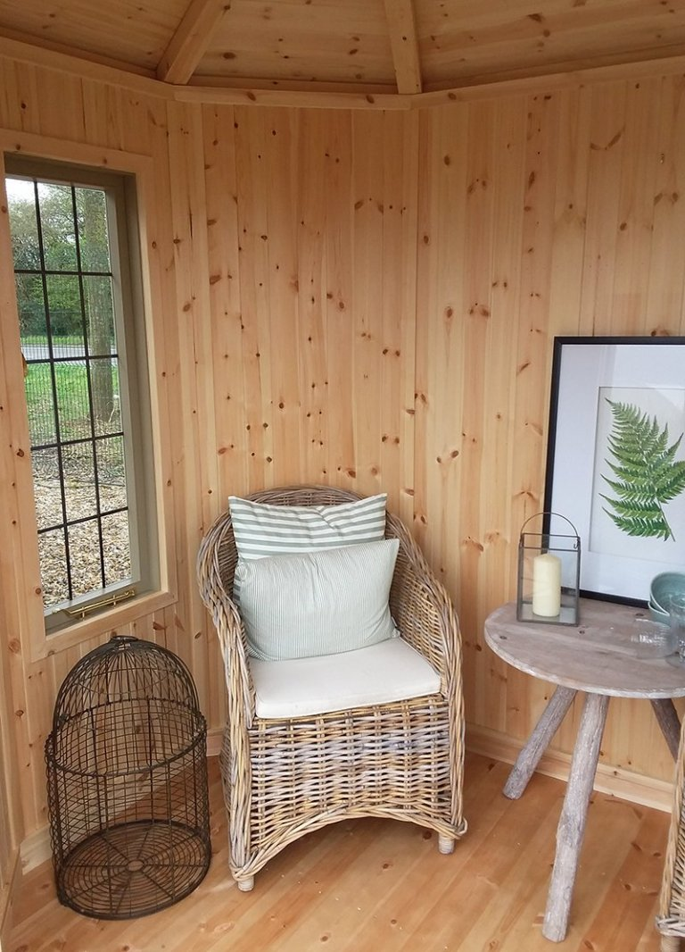Interior of the 1.8 x 2.5m Furnished Wiveton Summerhouse at Brighton