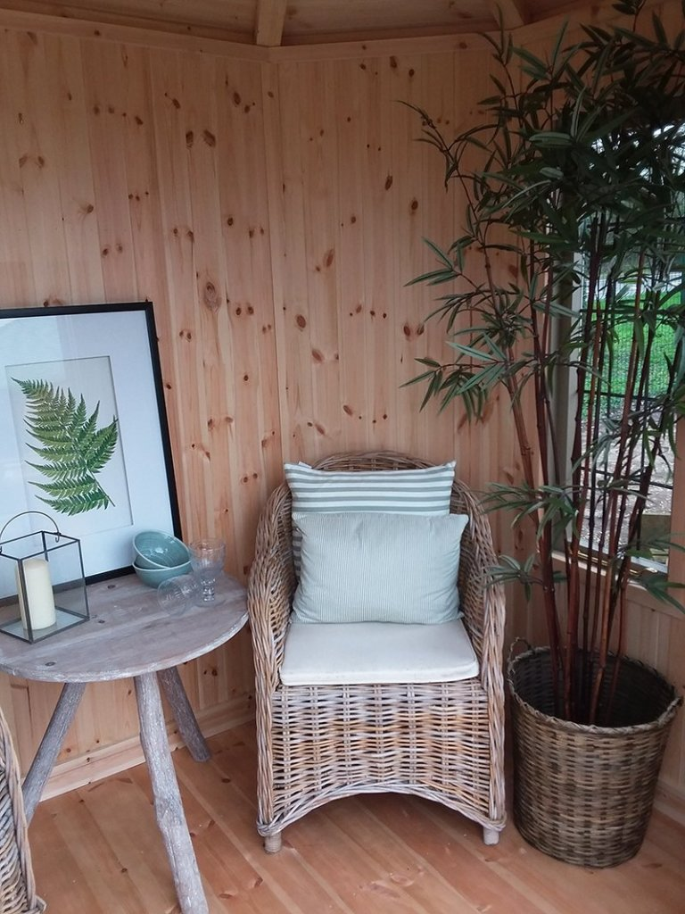Inside the Dressed 1.8 x 2.5m Wiveton Summerhouse at Brighton