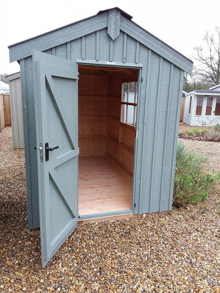 1.8 x 3.0m National Trust Peckover Shed at Cranleigh