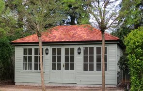 3.6 x 5.4m Garden Room in Exterior Paint System Lizard