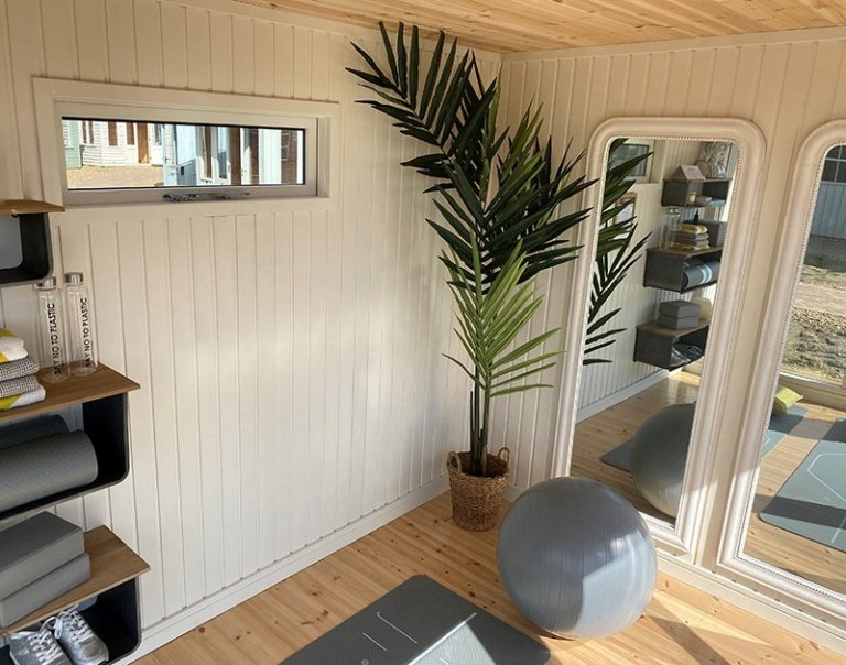 Interior of the Holt Studio at St Albans Dressed as A Yoga Studio
