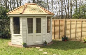 Classic Summerhouse in Classic Cotton and leaded windows