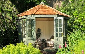 3.0 x 3.0m Wiveton Summerhouse with Georgian windows and colourmatched paint