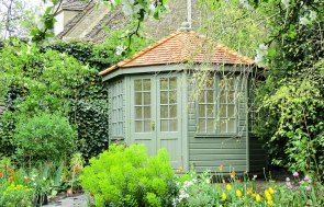 Wiveton Summerhouse in special colour match paint, Chive