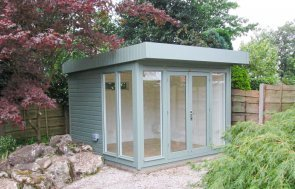 3.0 x 3.0m Salthouse Studio painted in F&B Card Room Green