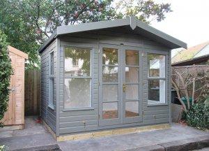 3.0 x 2.4m Blakeney Summerhouse painted in Exterior Ash