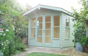 2.4 x 1.8m Blakeney Summerhouse Painted in Exterior Lizard