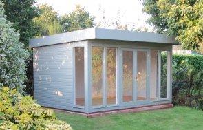 Salthouse Studio in Exterior Sage with Double Doors
