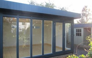 Fully insulated Salthouse Studio 12 x 14ft painted in Exterior Slate