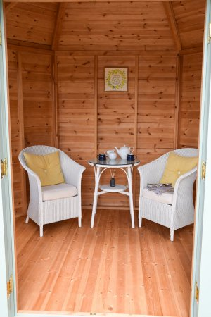 2.4 x 3.0m Classic Summerhouse with a dressed interior