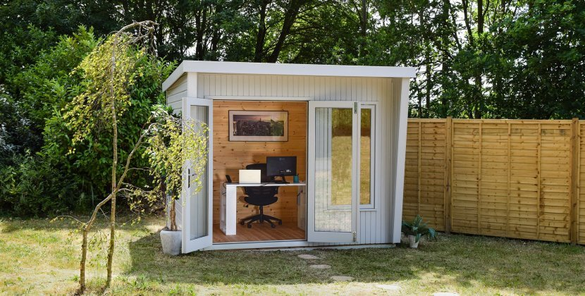 2.4 x 3.0m Classic Office in Classic Smoke and Natural Interior