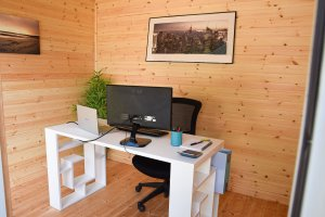 Classic Office Interior with natural matchboard lining