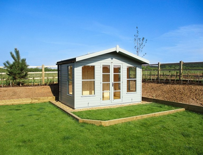 12 x 8ft Blakeney Summerhouse in Exterior Sage Paint