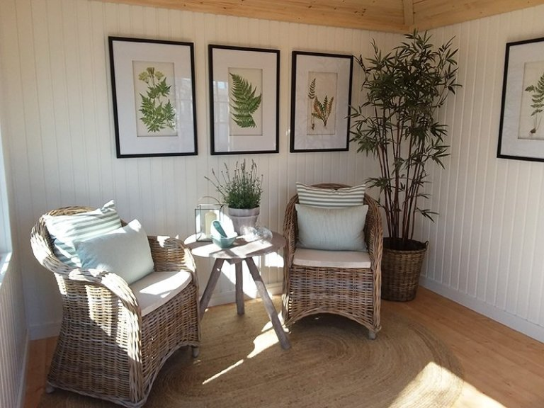 Inside the 3.0 x 3.0m Weybourne Summerhouse at Brighton