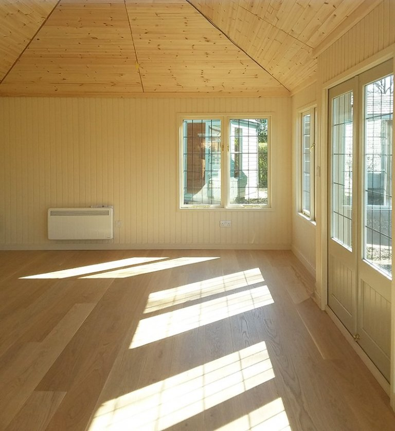 Inside the 4.2 x 6.0m Garden Room at Brighton