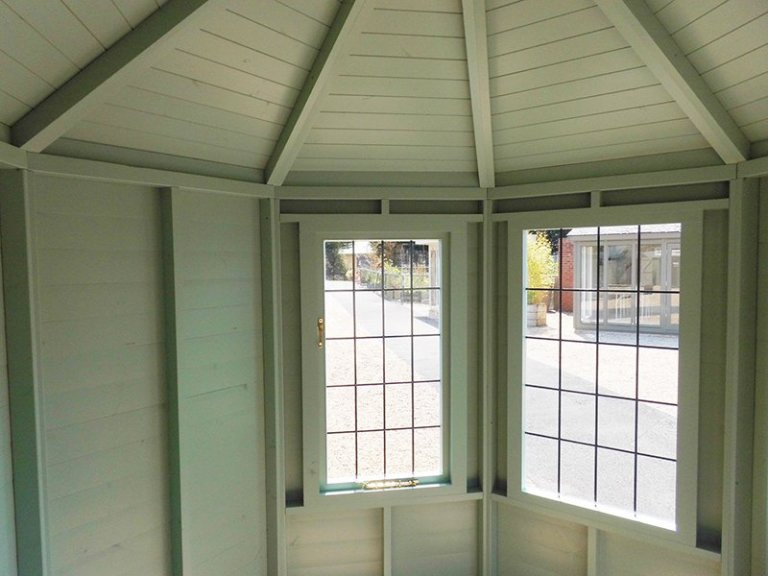 Inside the 2.4 x 3.0m Classic Summerhouse at Burford