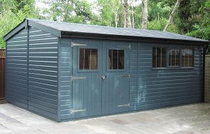 Large Superior Shed in Exterior Slate with double doors