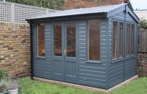 Holkham Summerhouse as a She Shed painted in Exterior Slate