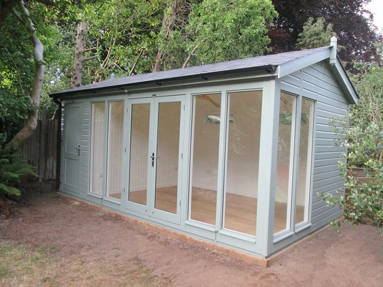 3.0 x 5.4m Burnham Studio painted in exterior sage