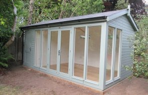 3.0 x 5.4m Burnham Studio painted in exterior sage