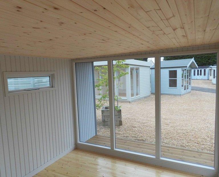 Inside Burford's Holt Studio measuring 3.8 x 4.4m