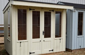 1.8 x 2.4m Flatford National Trust Summerhouse at Narford painted in Dome Ochre