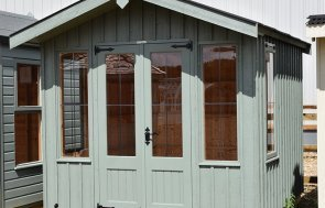 2.4 x 2.4m Ickworth National Trust Summerhouse at Narford painted in Terrace Green