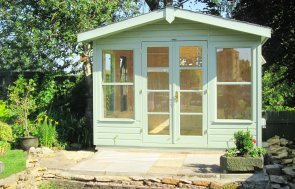 3.0 x 2.4m Blakeney Summerhouse painted in Exterior Lizard