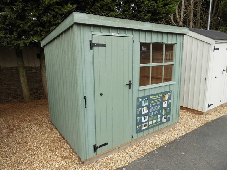 Oxburgh Shed measuring 1.8 x 2.4m at our Burford Show Centre