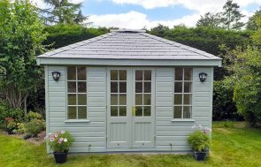 3.0 x 3.6m Fully Lined and Insulated Cley Summerhouse
