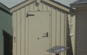 Newbury's 1.8 x 3.0m Peckover Shed painted in Dome Ochre