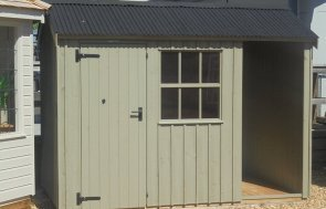 Newbury's 1.8 x 3.0m Blickling Shed painted in Wades Lantern