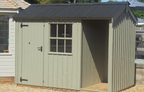 1.8 x 3.0m Blickling Shed painted in Wades Lantern at Newbury