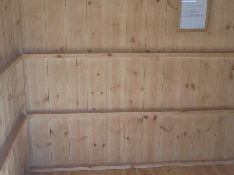 Inside Newbury's 1.8 x 2.4m Oxburgh Shed