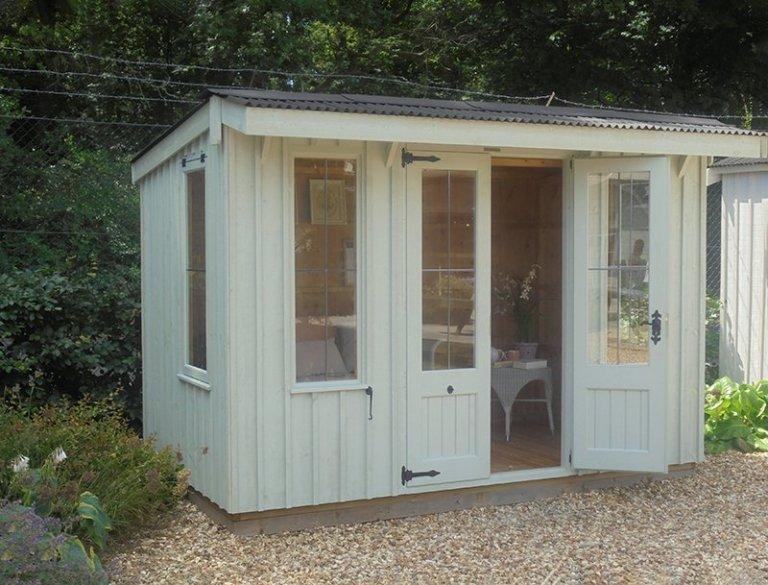 Newbury's 1.8 x 3.0m Flatford Summerhouse with open door