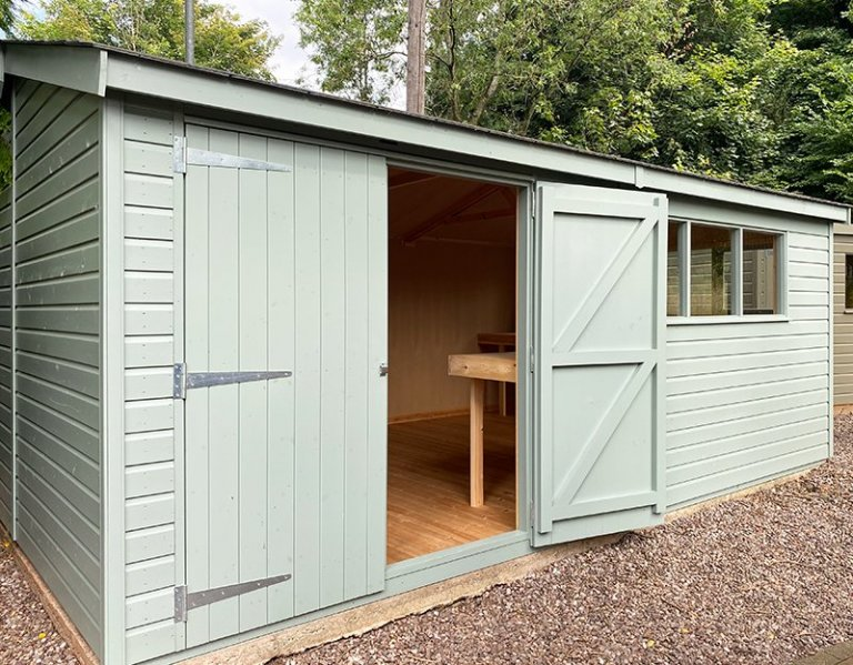 3.6 x 5.4m Superior Shed at Trentham