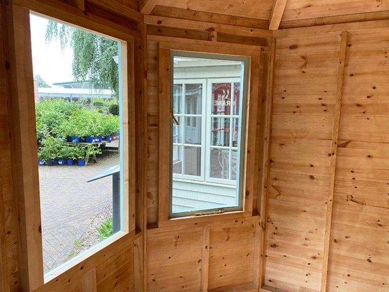 Inside Trentham's 2.4 x 3.0m Classic Summerhouse