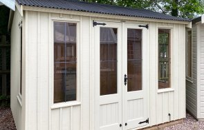 2.4 x 3.0m National Trust Lavenham Summerhouse at Trentham painted in Dome Ochre