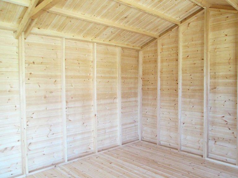 Inside Sunningdale's 3.0 x 4.8m Superior Shed