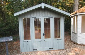 2.4 x 2.4m National Trust Ickworth Summerhouse at Sunningdale painted in Terrace Green