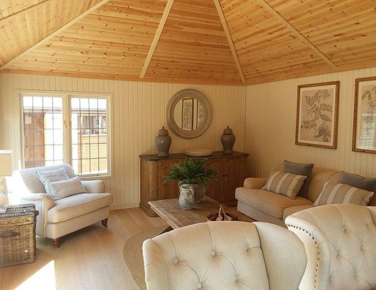 Interior of Brighton's 4.2 x 6.0m Garden Room