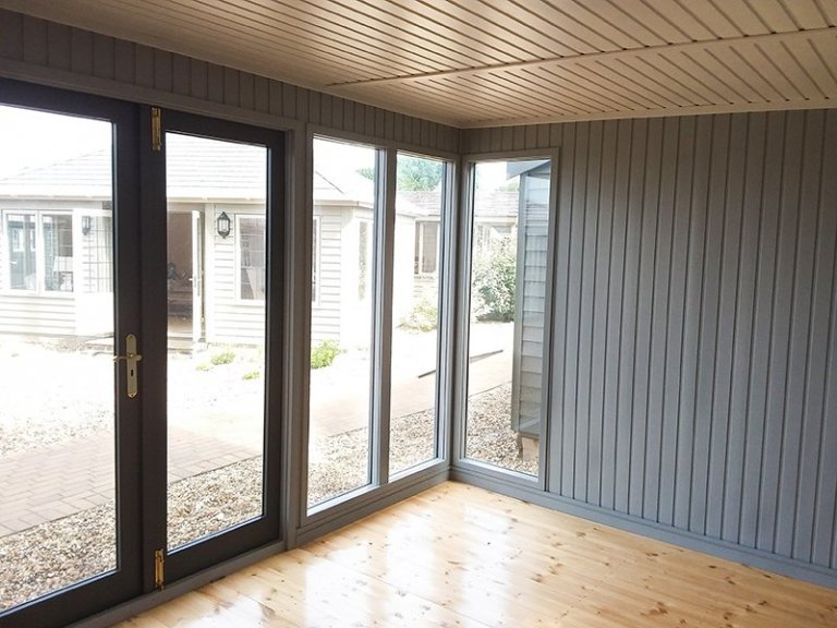 Fully glazed front elevation inside Brighton's 3.0 x 4.2m Salthouse Studio