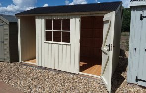 Brighton's Blickling Shed measuring 2.4 x 3.6m painted in Dome Ochre