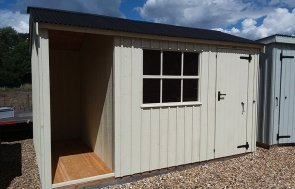 2.4 x 3.6m Blickling Shed at Brighton painted in Dome Ochre