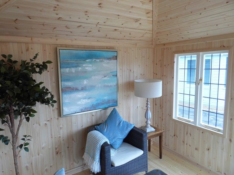 Inside Burford's 3.0 x 3.0m Weybourne Summerhouse