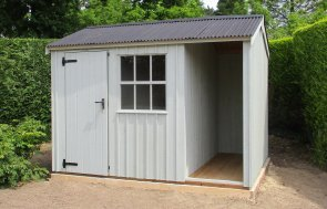 Shed Inspiration - Blickling Garden Shed with logstore