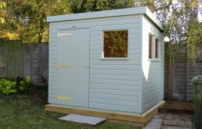 1.8 x 2.4m Pent Roof Superior Shed in shiplap