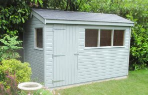 1.8 x 3.6m Superior Shed with grey slate effect roofing tiles